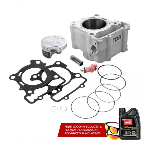 TDR Cylinder Block Kit X-Max 300 (76MM) + Injector 12 Holes (240CC/min) + lubricant