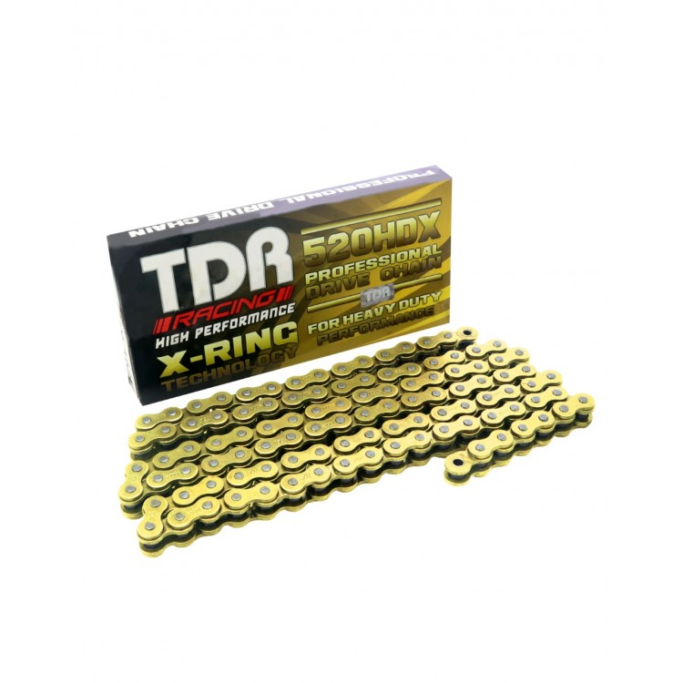 TDR Racing Chain 520HDX with X-Ring Technology 106 GOLD