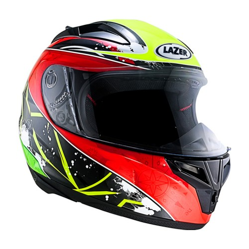 LAZER Helmet F-3 Black/Yellow/Red