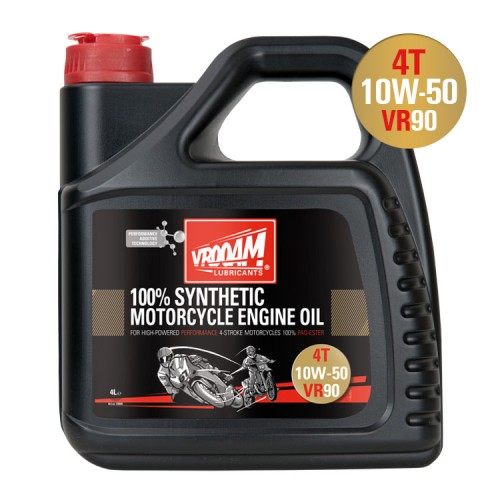 VROOAM VR90 4T Motorcycle Engine Oil 10W‐50 4L